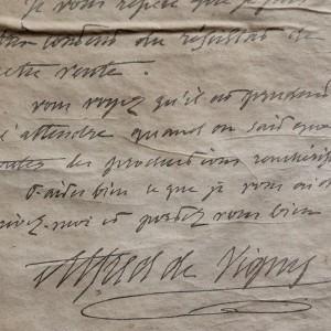 Maine Giraud - lettre de Vigny © DR