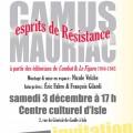 Camus – Mauriac: esprits de Résistance