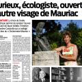 Caroline Casseville présente le «Dictionnaire Mauriac» dans «Sud Ouest»