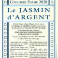 Le Jasmin d'Argent, concours centenaire de poésie