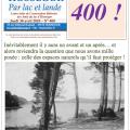 La 400e lettre infos des Amis du lac d'Hossegor !