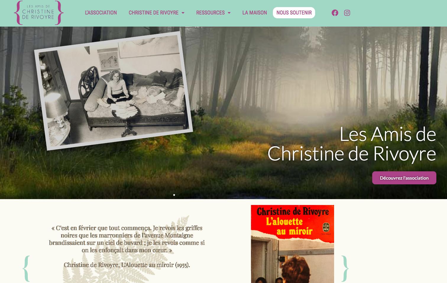 Site Amis Christine de Rivoyre