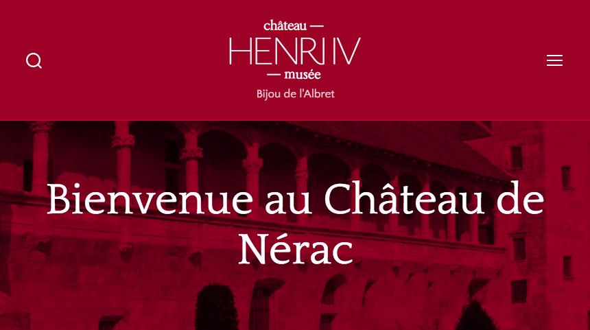 Capture d'écran site Château de Nérac